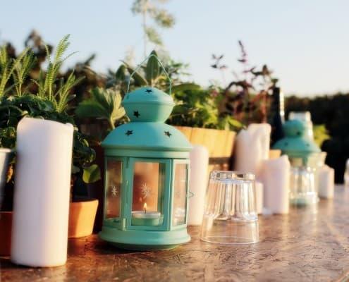 עיצוב שולחן בסגנון רומנטי - חתונה בטבע