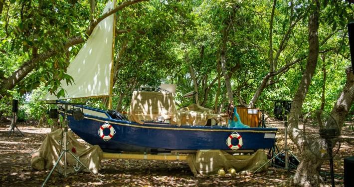 חתונת שישי במטע אבוקדו - עמדת די ג'יי - סירה