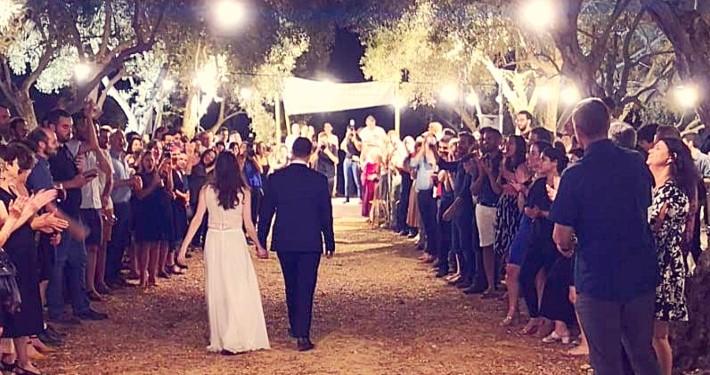 הפקת חתונה במטע זיתים