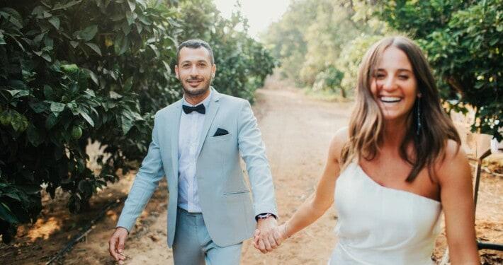 עמית ונעם חתונה בטבע